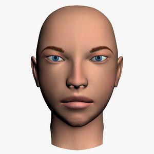 human female head 3d model