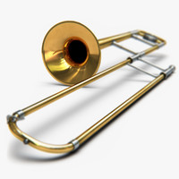 trombone 2 3d model