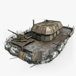 3d model of military outpost