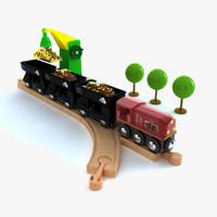 kids train set 3d max