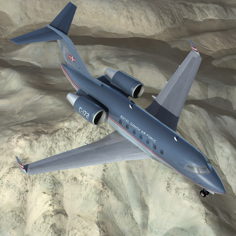 3d model of cl-604 challenger mma danish