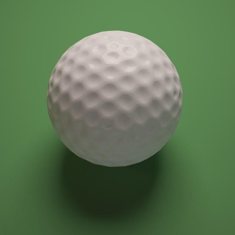 3dsmax golf ball