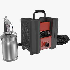 hvlp turbine paint sprayer 3d model