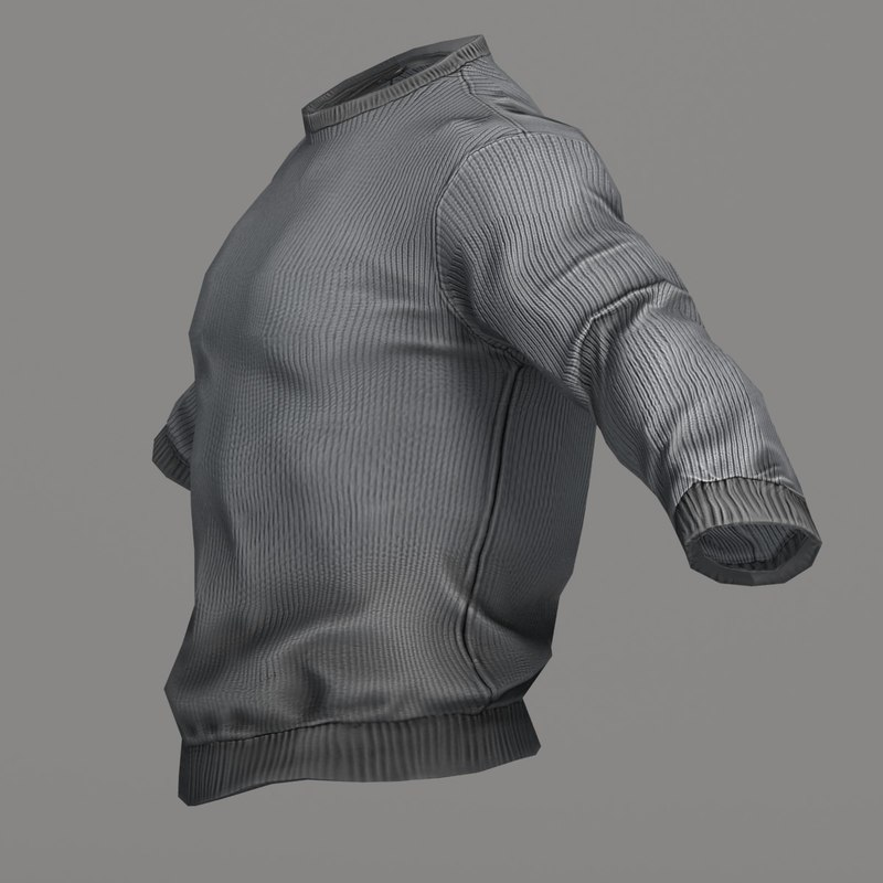 gray sweater 3d max