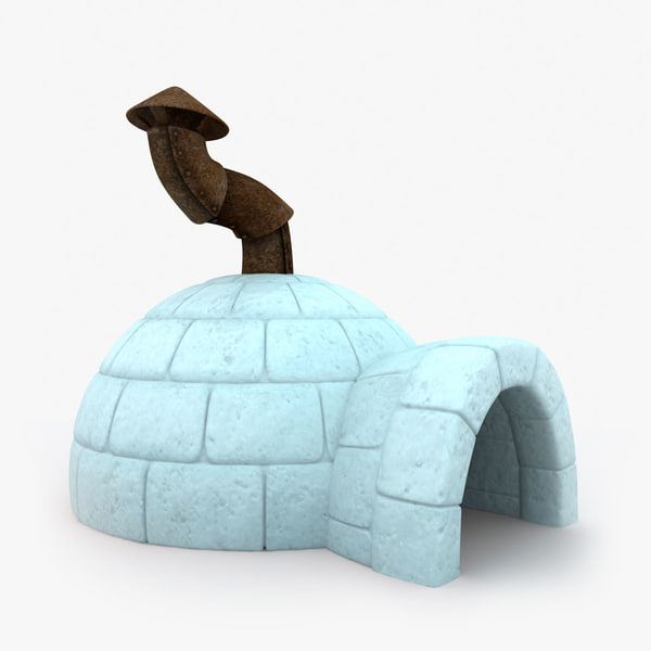 3d igloo cartoon model