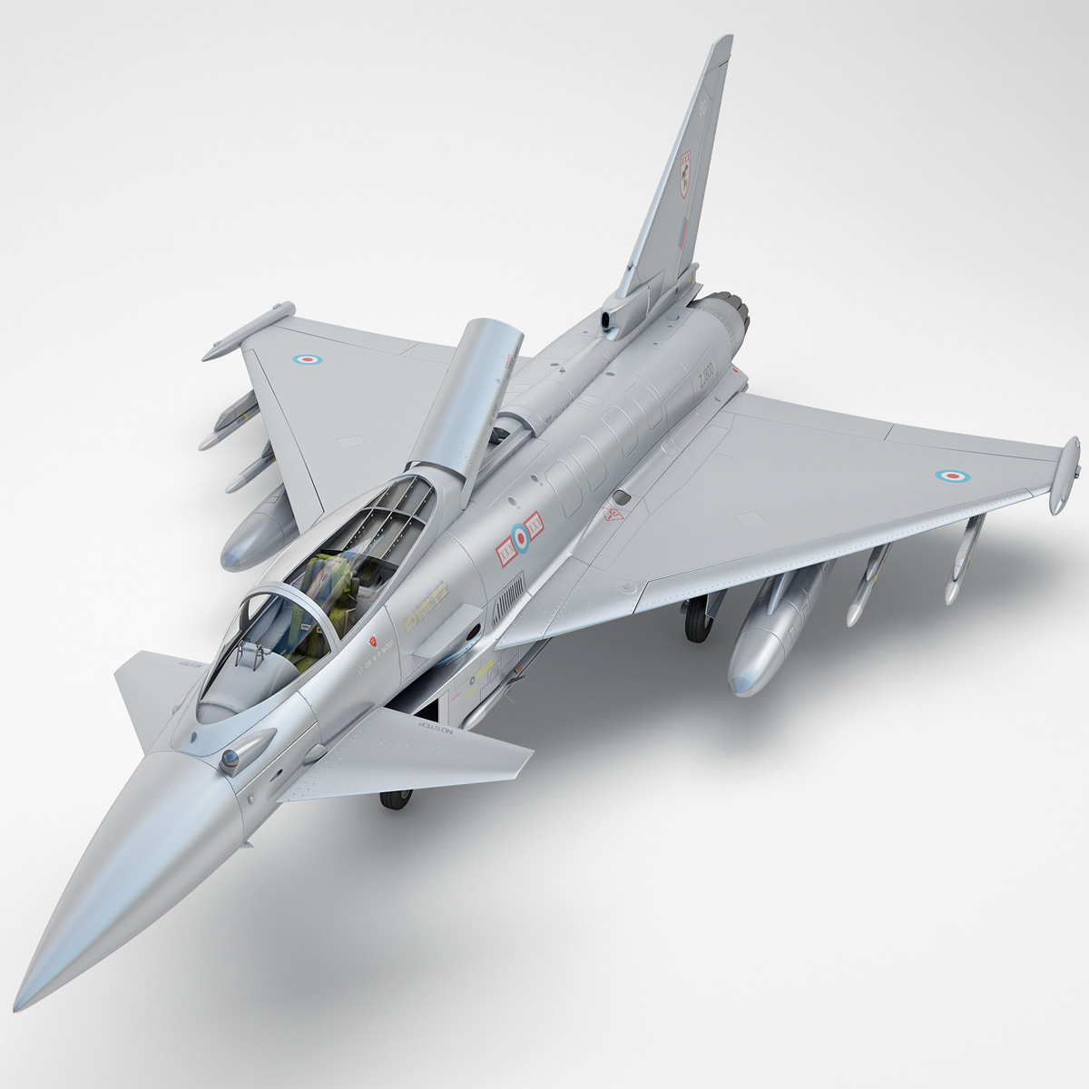 eurofighter typhoon ef2000 rigged 3d max