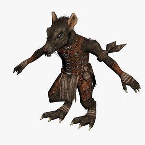 wererat creature fantasy 3d max
