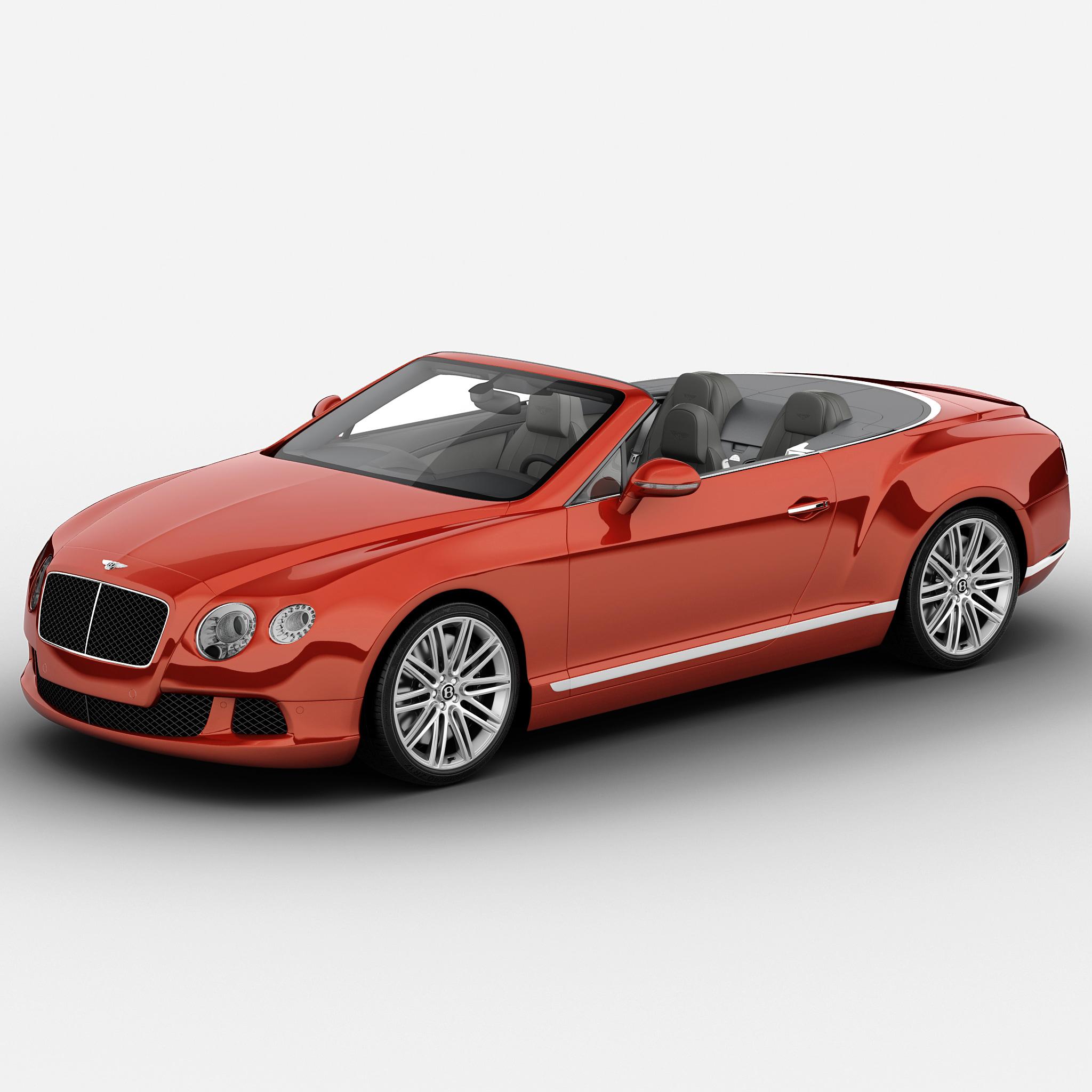 bentley continental gt 2014 3d model