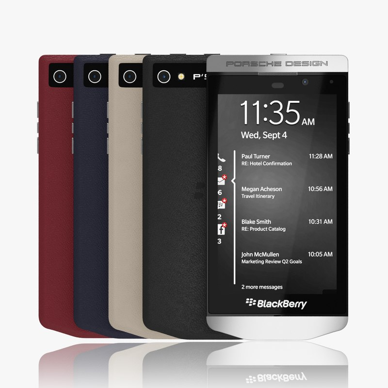 3d blackberry porsche design p9982 model