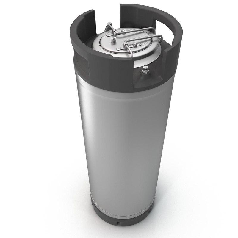 3d model keg cornelius