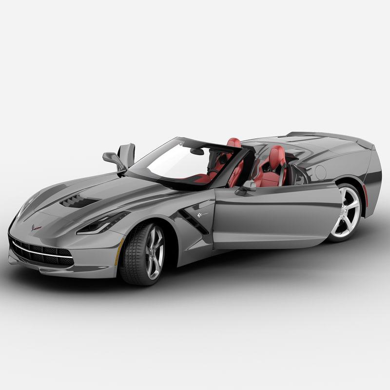 chevrolet corvette c7 stingray 3d max