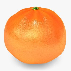 3d mandarine orange