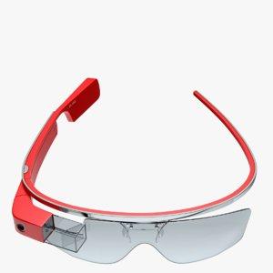3d model of glass google