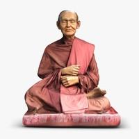 3dsmax thai monk buddhist