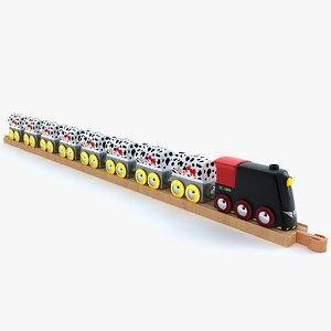 3d kids train toy