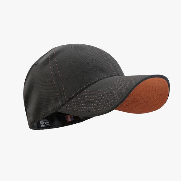 - cap black orange 3ds