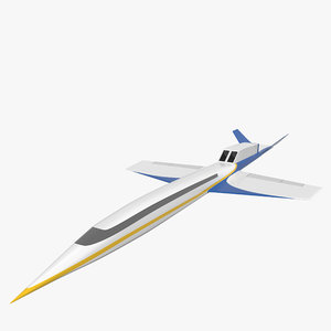 3d model spike s-512 supersonic business jet