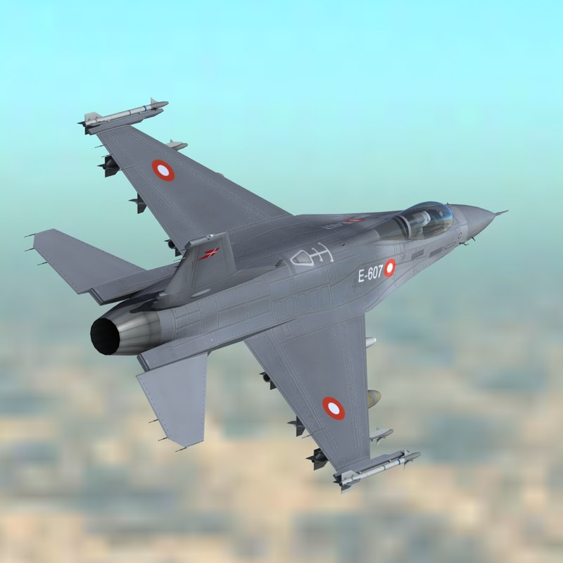 3ds max f16 falcon fighter danish