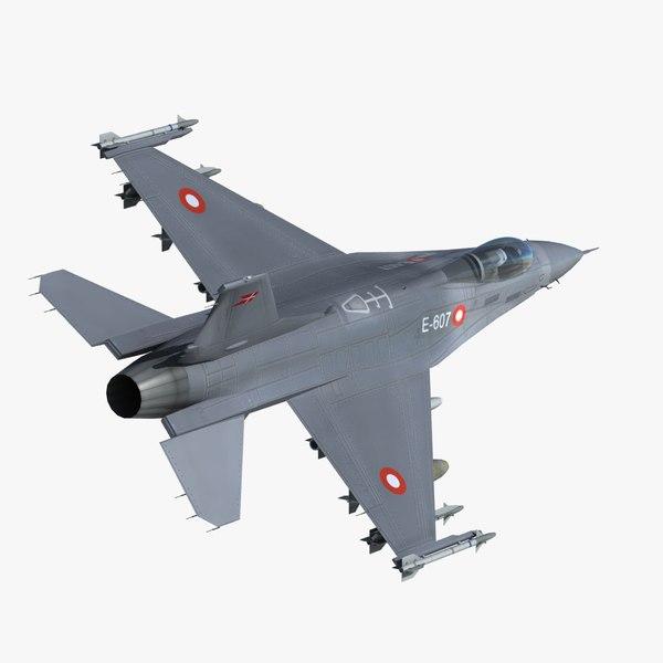 3ds max f16 falcon fighter danish