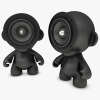 3d model realistic munny doll speakers