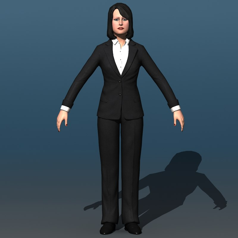 3d model resolution human female