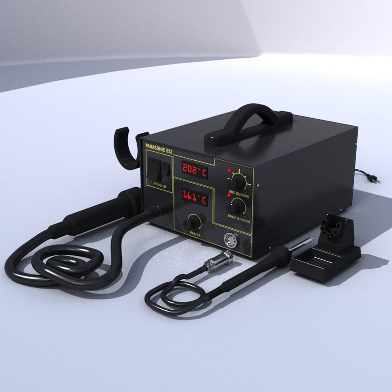 soldering station 3d 3ds