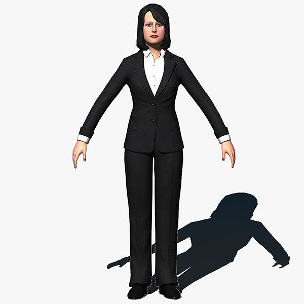 3d model resolution human female