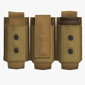3d model grenade m433 cartridge pouch