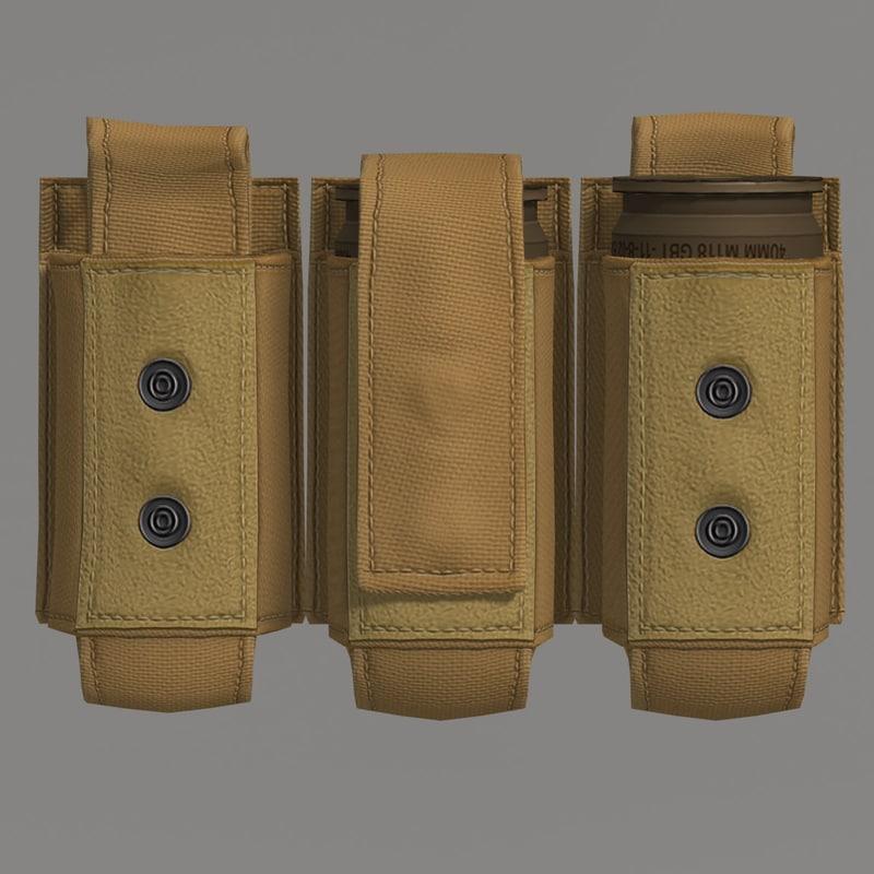 3d model grenade m433 cartridge pouch