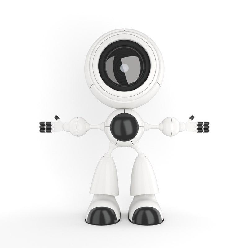 3d smart robot robo model