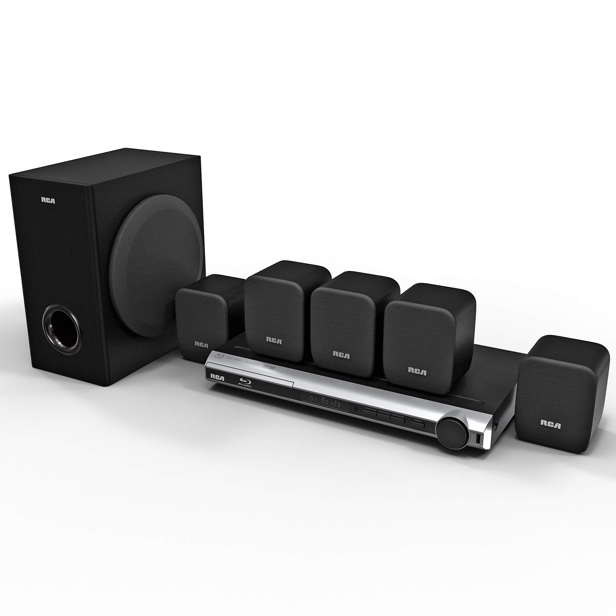 3d model of bluray home theater rca