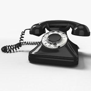 handset old phone 3d 3ds
