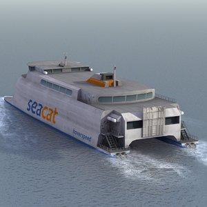 3d lw catamaran ferry