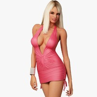 blonde woman character dress max
