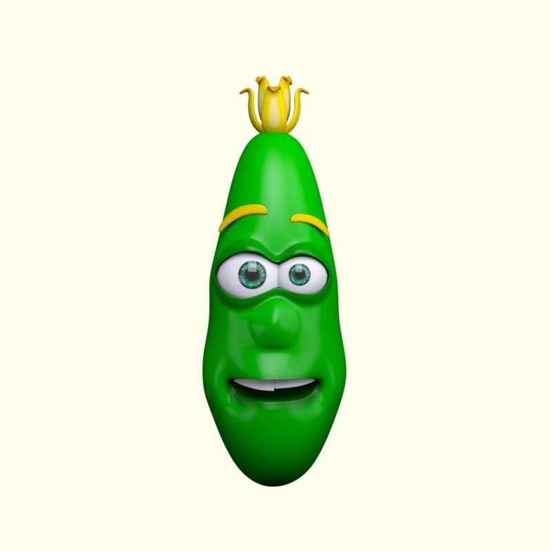 max cartoon character cucumber
