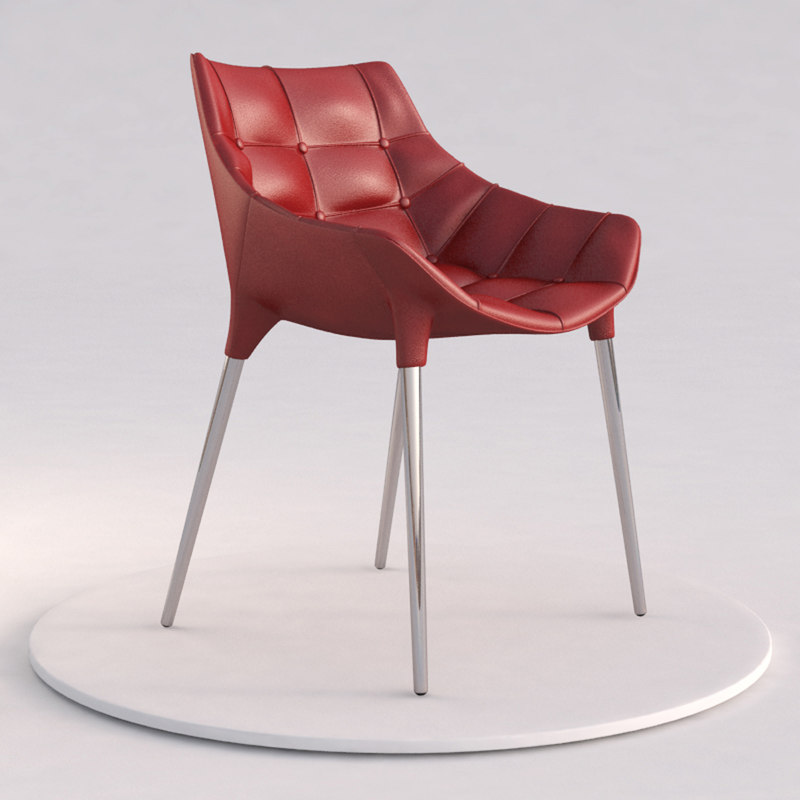 3d model cassina 246 passion chair starck