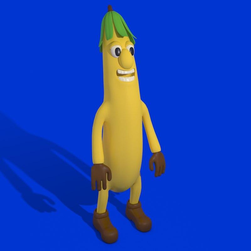 3ds max banana character