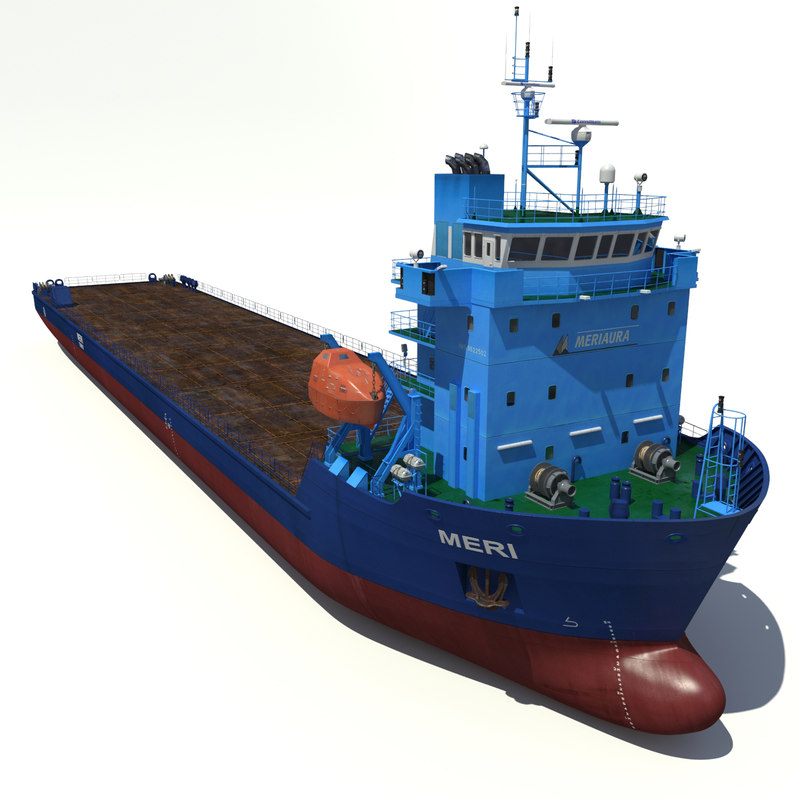 multi-purpose cargo vessel meri 3d model
