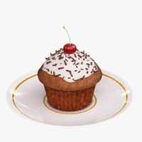 3d model tasty cupcake