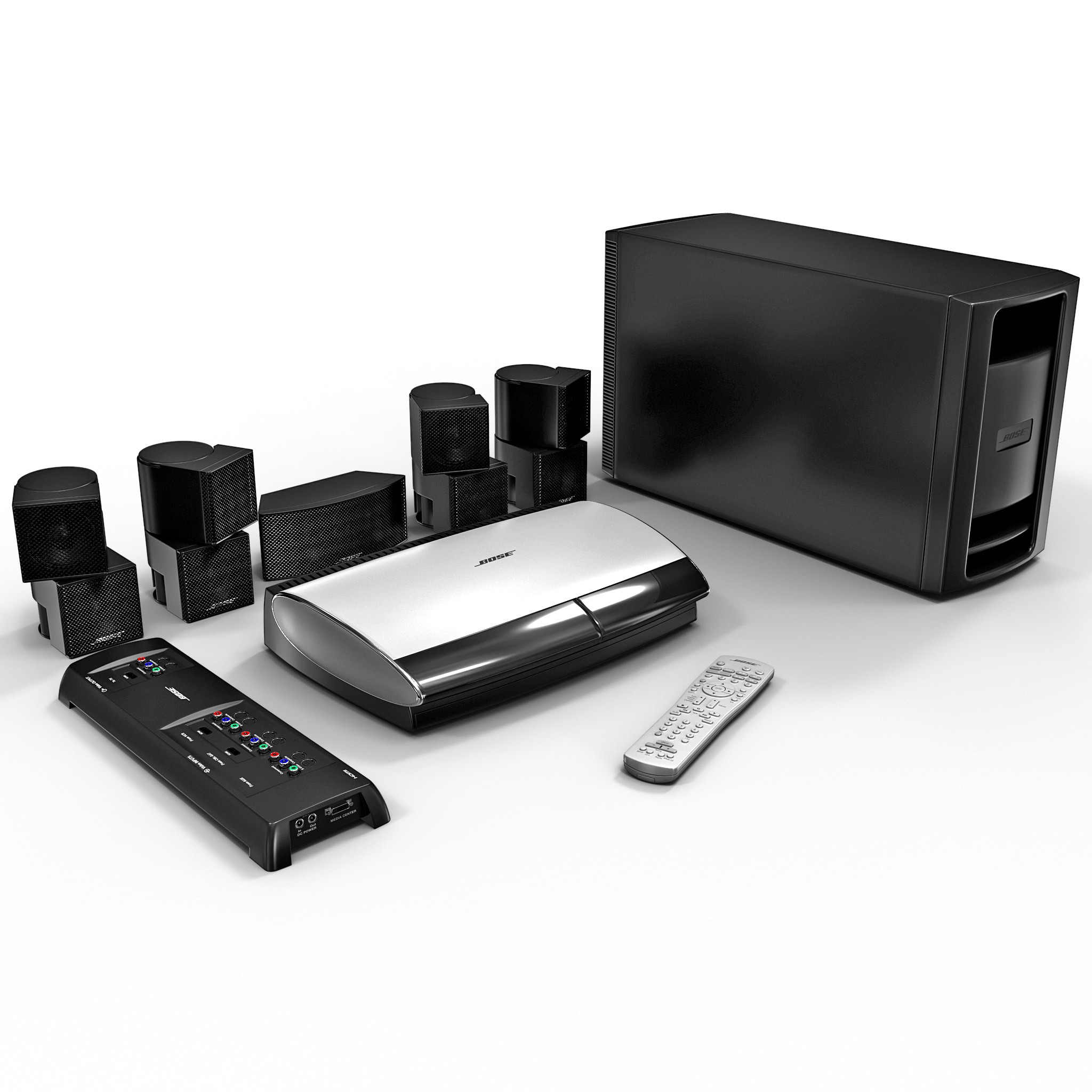 3d home entertainment bose set