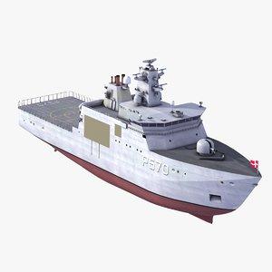 3d model knud rasmussen patrol navy ships