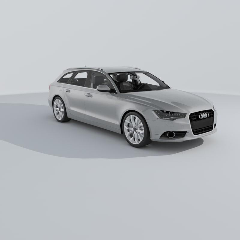 3d Model Audi A6 Avant 2012