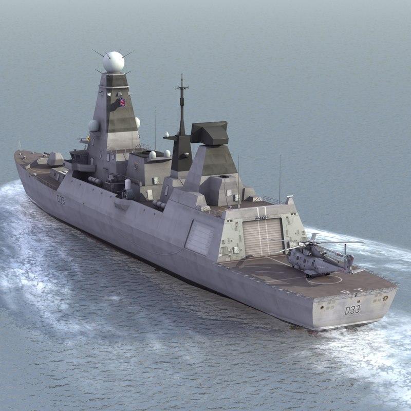 hms dauntless class destroyer max