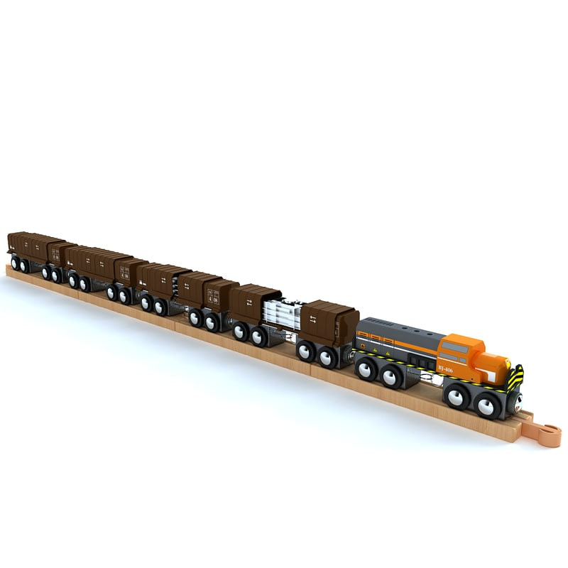 3d kids train toy model