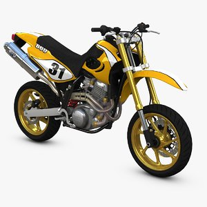 race supermoto bike 3d lwo