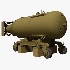 3d model littleboy atom bomb