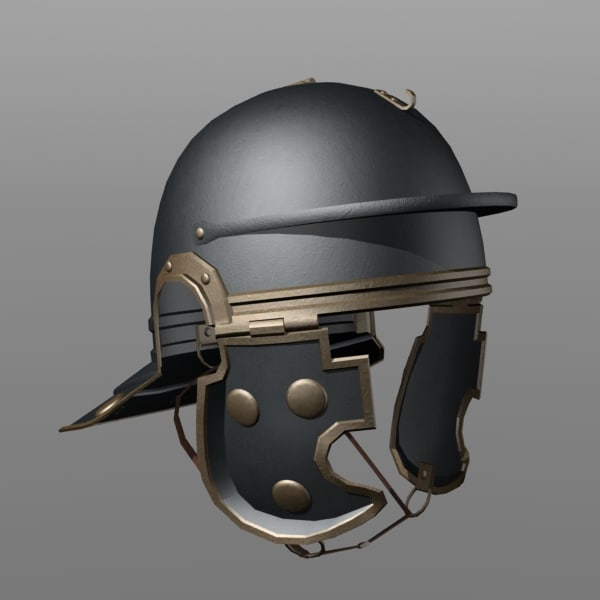 roman legionary helmet 3d model