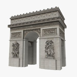 arc triomphe 3d model