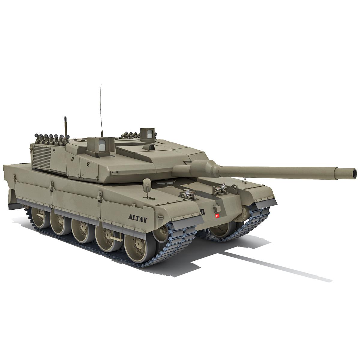altay turkish main battle tank 3d max