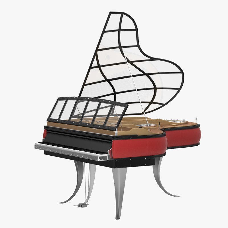 3d poul henningsen piano model